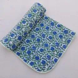 Handmade Printed Khatha Baby Quilt