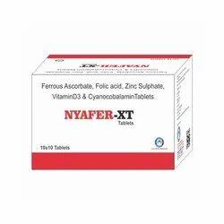 Ferrous Ascorbate Folic Acid Zinc Sulphate Vitamin D3 And Cyanocobalamin