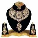 FNS-007 Pink Gold Plated CZ Necklace Set