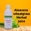 Aloe Vera-Wheatgrass Juice Wheat-o-power Juice 500 ml