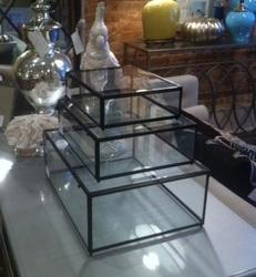 Rectangle Metal Clear Glass Jewellery Boxes, For Home