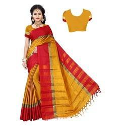 Cotton Saree With Jhalar