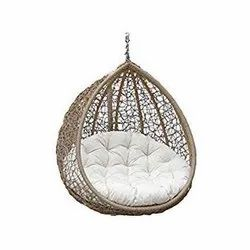 Rattan and Wicker Single Seater Hanging Swing Chair with Connectors