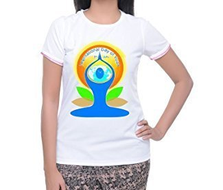 e7488923b White Kabir Creations Women International Yoga Day T-Shirts, Rs 55 ...
