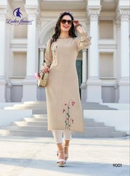 Limelight Rayon With Jacquard Butti With Embroidery Designer Traditional Kurtis