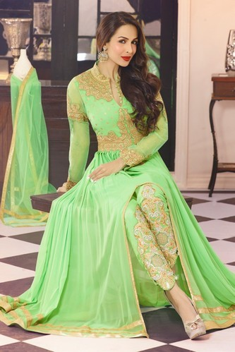 6708711fde Georgette Indian Fancy Suits, Maitri Texfab. Pvt. Ltd. | ID: 4133324997