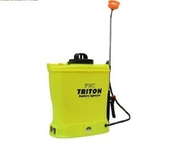 Yellow Thermoplastic Battery Sprayer, Storage Tank: 16 Liter