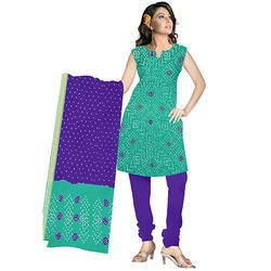 Sea Green Bandhani Suit