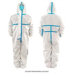 PPE Body Suit (Laminated Fabric) With Seamless Sealing Tape