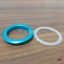 40mm Plastic Curtain Eyelets & Washers Blue