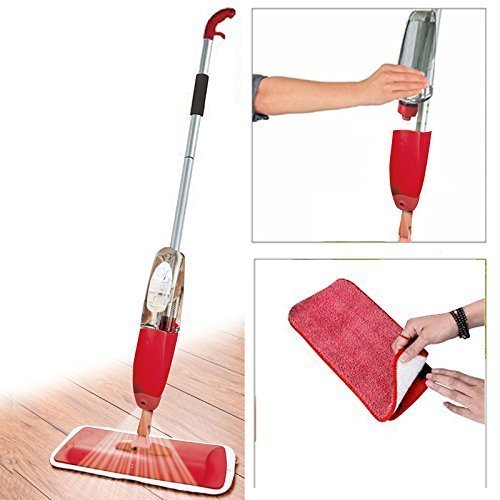 microfiber floor cleaning healthy spray mop with removable washable