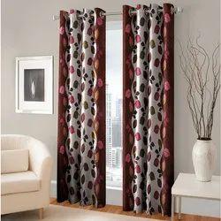 Polyester Window Curtain, Size: 7 Feet