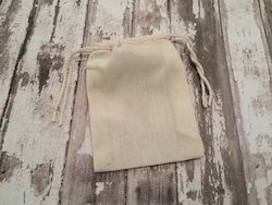 Organic Cotton Natural Cotton Drawstring Tote Bag