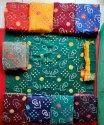 Multicolor Fancy Bandhani Dress Material