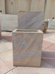 Rainbow Sandstone Broad Shape Planter