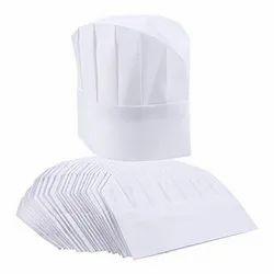 White,Blue Non Woven Disposable Chef Caps