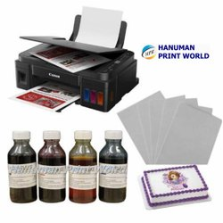 Canon Edible Tank Printer (with Scanner) Complete Set Including 4 Edible Ink  & 25 Icing Sheets