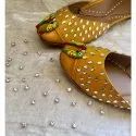 Genuine Soft Leather And Comfortable Office Ladies Juttis /Ethnic Flat Shoes