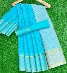 Printed Formal Wear Leheriya Saree, 6 m (with blouse piece)