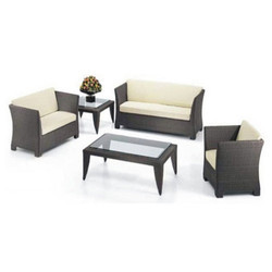 Black Outdoor Wicker Sofa Sets