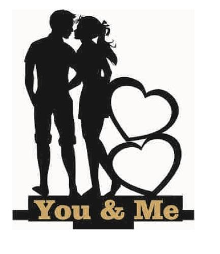 Black Wood You And Me Valentine Photo Frame Valentine Gift Rs 300