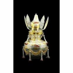 Golden Designer Brass Kalash, for Interior decoration