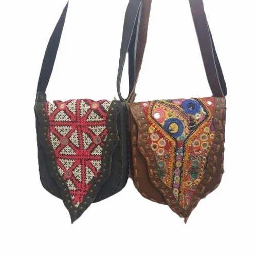 a2193b3aa0 Multicolor Embroidered Banjara Boho Bags