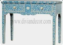 Aquamarine Beauty Bone Inlay Console Table/Sideboard