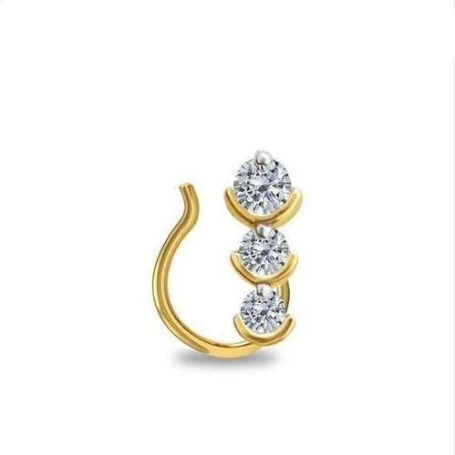 3 Stone Diamond Nose Pin Packaging Type Box Rs 12000 Piece Sarvada Diamonds Id 20250140388