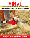 Single Phase Vimal-64 Electric One Man Chain Saw Machine