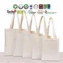 Linen cotton tote bags
