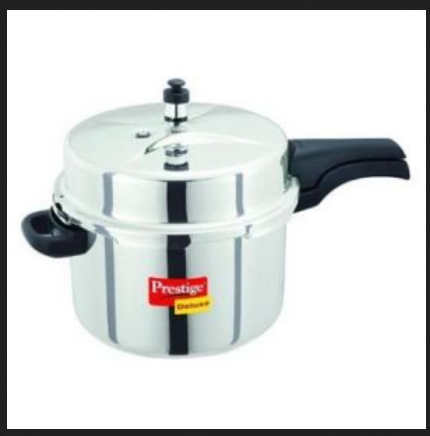 2cabe31d0 Prestige Popular 10 Liter Aluminum Pressure Cooker - DD s Granary ...