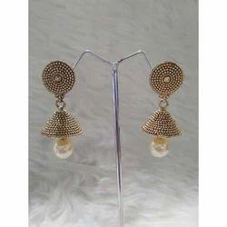 Shreeji Golden Ladies Fashion Earring