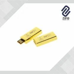 Promotional Gold Bar Shaped Pen Drive