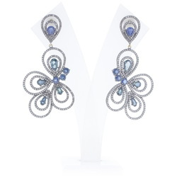 Chic Designs Pave Diamond Dangle Earrings
