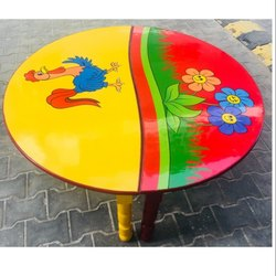 Classroom Table Wooden Made Printed Top