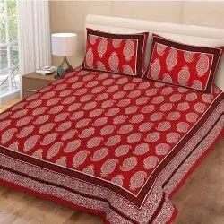 Paisley Print Cotton Double Bed Sheet