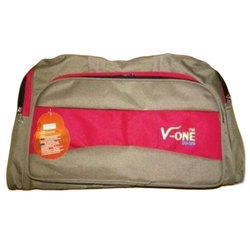 Polyester Brown and Red Casual Travel Bag