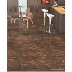 Brown Double Charged Vitrified Floor Tiles