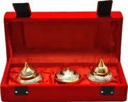 Gold Plated Brass Ladies Return Gift Kumkum Dani