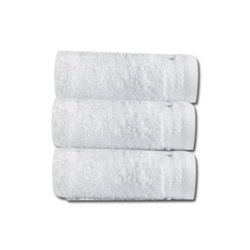 Sybaritic Cotton Hotel Collection White Bath Towel, 450-550 GSM, Size: 30x60