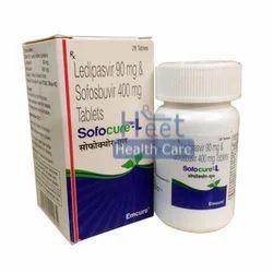 Sofocure L Ledipasvir 90mg Sofosbuvir 400mg Tablets