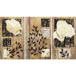 NAAG Canvas Textured Dry Roses Paintings