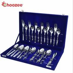 Sleek SS Cutlery Set of 24 Pcs (Cup Down)