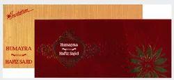 Gold & Red Box Muslim - Wedding Cards, Size: Medium