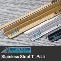 Stainless Steel T Patty V-Groove Cut