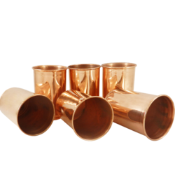 Plain Copper Tumbler Glasses, For Home