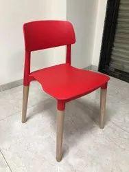 Samarth Red PP Chair, for Restaurant