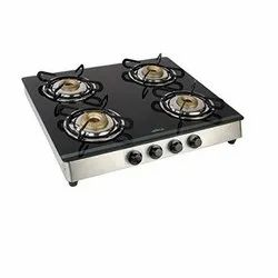 Toughened Glass Four Burner Gas Stove for Kitchen