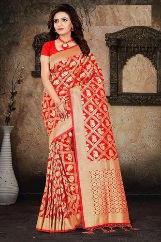 1fdb9c14be Designer Saree - Ladies Banarasi Saree Manufacturer from Surat